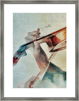 Violinist Framed Print by David Ridley
