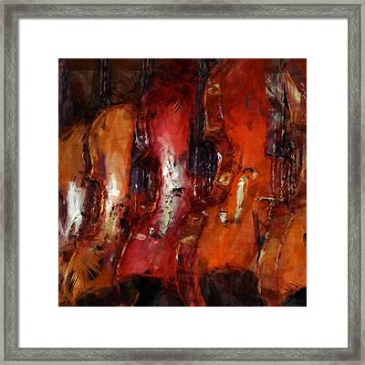 Violins Abstract Framed Print by David G Paul