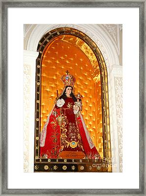 Virgen De Chapi Arequipa Framed Print by James Brunker