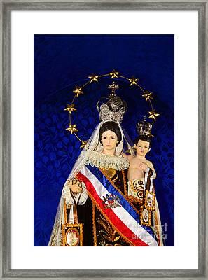 Virgen Del Carmen Close Up Chile Framed Print by James Brunker