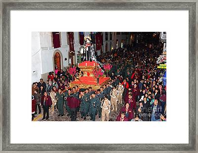 Virgen Dolorosa Procession Cusco Framed Print by James Brunker