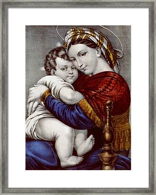 Virgin And Child Circa 1856  Framed Print by Aged Pixel
