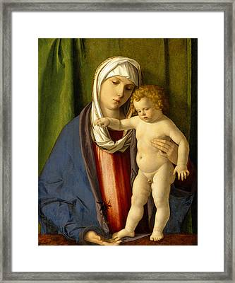 Virgin And Child Framed Print by Giovanni Bellini