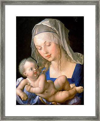 Virgin And Child Holding A Half-eaten Pear, 1512 Framed Print by Albrecht Durer or Duerer
