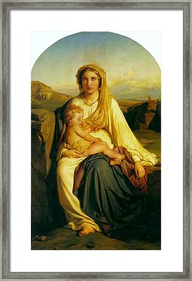 Virgin And Child Framed Print by Paul  Delaroche