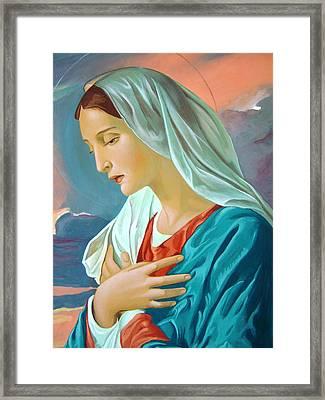 Virgin Mary Framed Print by Janeta Todorova