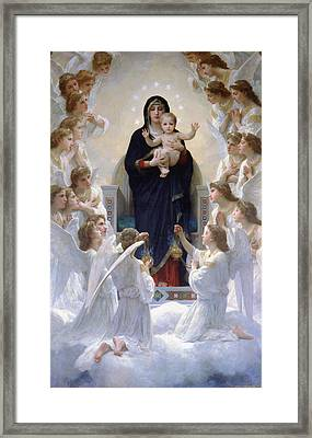 Virgin Mary With Angels Framed Print by Bouguereau