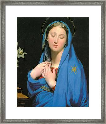 Virgin Of The Adoption Framed Print by Jean Auguste Dominique Ingress