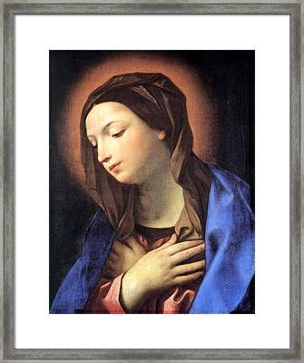Virgin Of The Annunciation Framed Print by Guido Reni