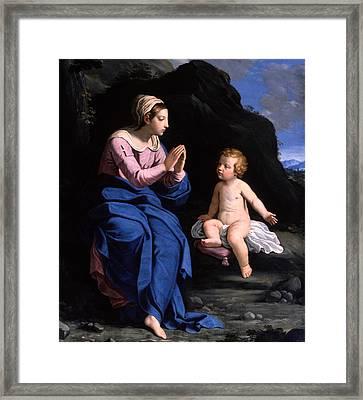 Virgin Of The Ghiara Framed Print by Ludovico Lana