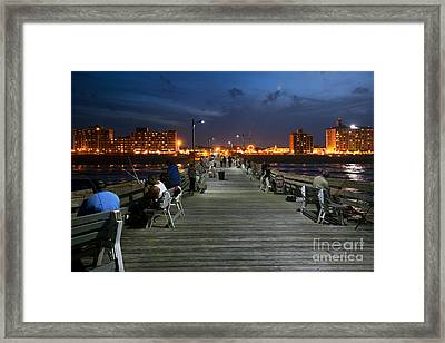 Virginia Beach Fishing Pier Framed Print by Bill Cobb