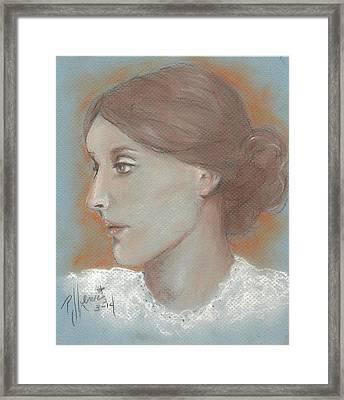 Virginia Woolf Framed Print by P J Lewis