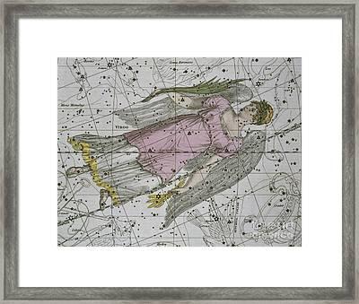 Virgo From A Celestial Atlas Framed Print by A Jamieson