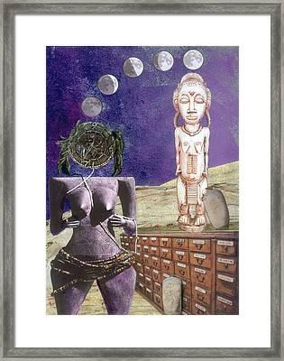 Virgo Framed Print by Maria Jesus Hernandez
