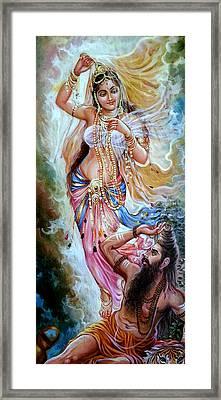 Vishwamitra Menaka Framed Print by Mayur Sharma
