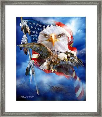 Vision Of Freedom Framed Print by Carol Cavalaris