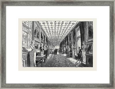 Visit Of The King Of The French To Queen Victoria The Grand Framed Print by English School