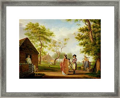 Visit To The Country Dairy Framed Print by Johan Prey