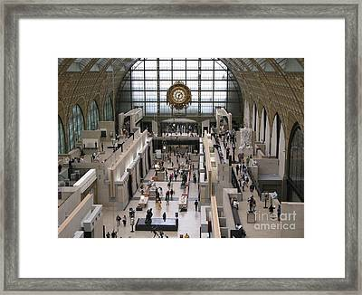 Visiting The Musee D'orsay Framed Print by Ann Horn