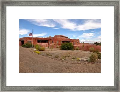 Visitor Center At Painted Desert Framed Print by Gene Sherrill