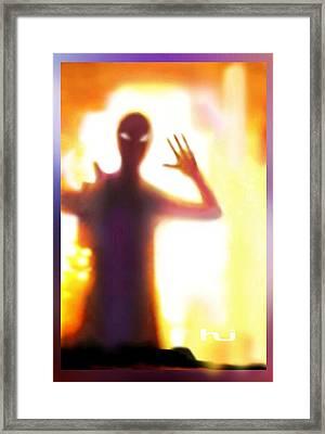 Alien Visitor Framed Print by Hartmut Jager
