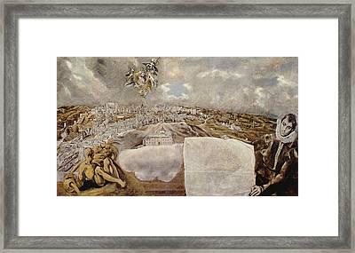 Vista De Toledo - The View Of Toledo Framed Print by Celestial Images