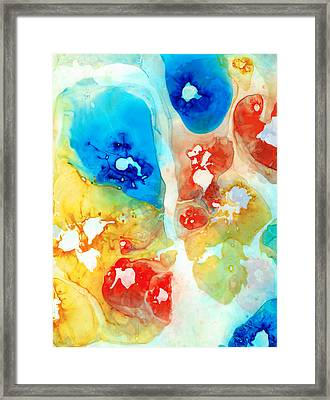 Vitality - Contemporary Art By Sharon Cummings Framed Print by Sharon Cummings