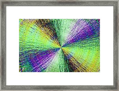 Vitamin C In Polarized Lighting Framed Print by Gerd Guenther