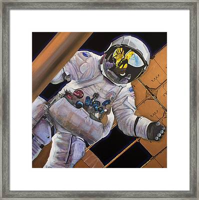 Vitruvian Man- Alan Bean.  Framed Print by Simon Kregar