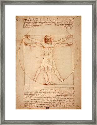 Vitruvian Man Framed Print by Bill Cannon