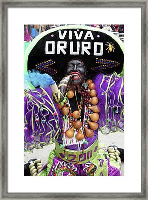 Viva Oruro Bolivia Framed Print by James Brunker