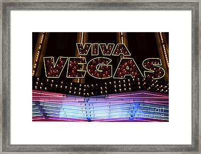 Viva Vegas Neon Framed Print by Bob Christopher