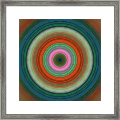 Vivid Peace - Circle Art By Sharon Cummings Framed Print by Sharon Cummings