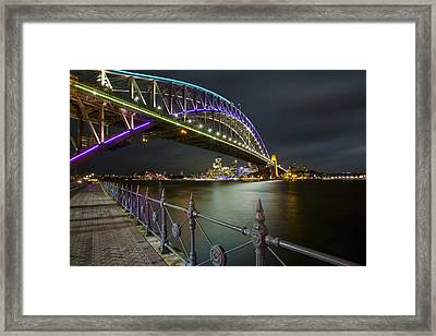 Vivid Sydney Framed Print by Renee Doyle