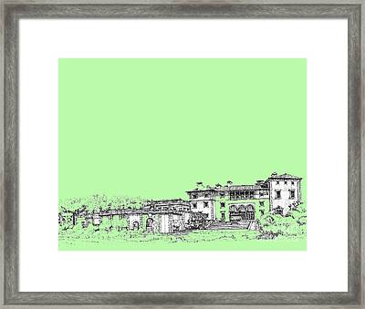 Vizcaya In Lime-green Framed Print by Building  Art