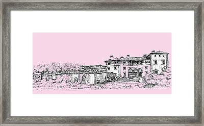 Vizcaya Museum And Gardens Baby Pink Framed Print by Building  Art