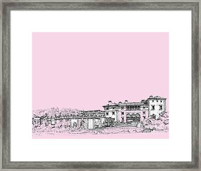 Vizcaya Museum In Pink Framed Print by Building  Art