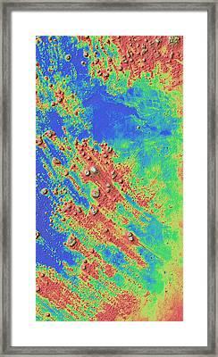 Volcanic Landforms Framed Print by Nasa