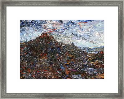 Volcano Framed Print by James W Johnson