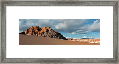 Volcanoes Licancabur And Juriques Seen Framed Print by Panoramic Images