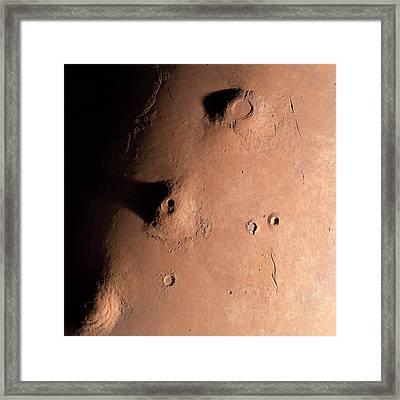 Volcanoes On Mars Framed Print by Detlev Van Ravenswaay