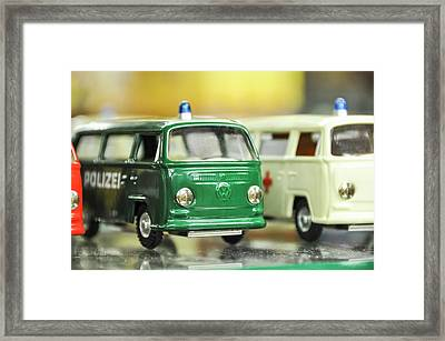 Volkswagen Miniature Cars Framed Print by Photostock-israel