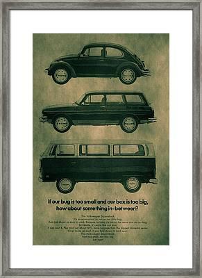 Volkswagen Poster Framed Print by Dan Sproul