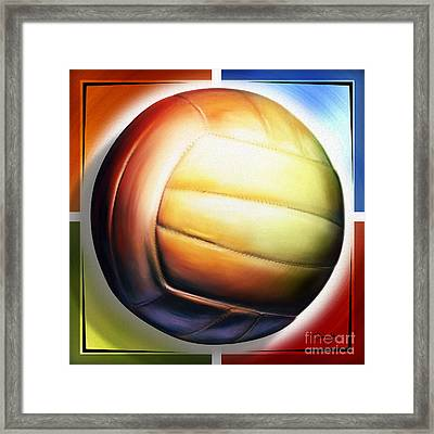 Volleyball Framed Print by Shevon Johnson