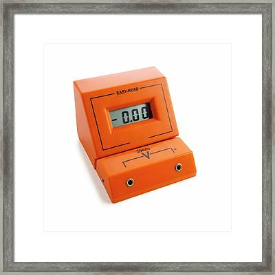 Voltmeter Framed Print by Science Photo Library