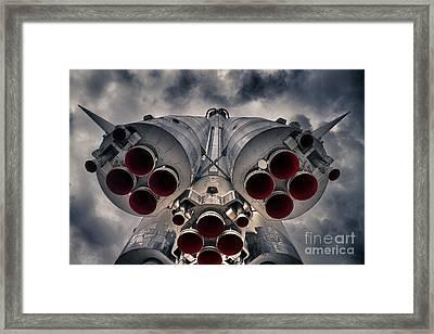 Vostok Rocket Engine Framed Print by Stelios Kleanthous