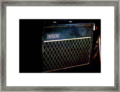 Vox Guitar Amplifier Framed Print by Gunter Nezhoda