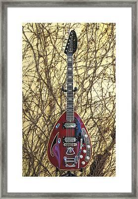 Vox Starstream Vi Guitar 1967 Framed Print by Phyllis Tarlow