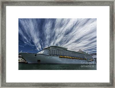 Voyager Of The Seas Framed Print by Avalon Fine Art Photography