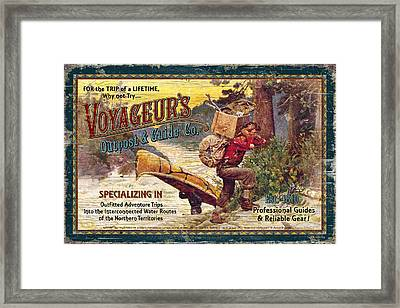 Voyageurs Outpost Framed Print by JQ Licensing